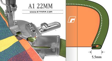 Dispozitiv dublu intors 22mm